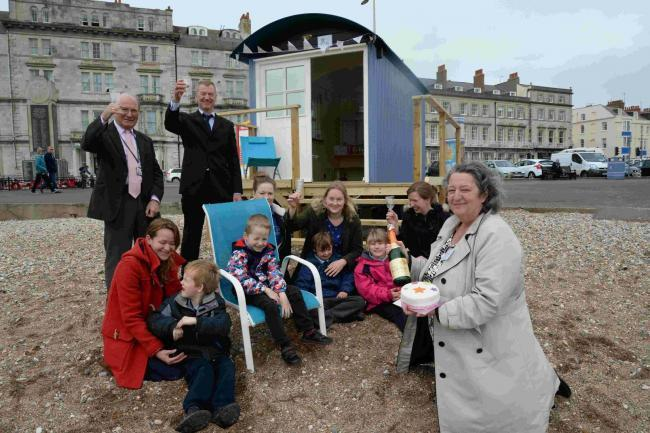 Weymouth beach hut for disabled children gets extended stay