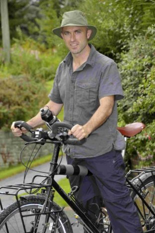 OFF TO AFRICA: Peter Gostelow is cycling to Cape Town in South Africa to raise money for charity