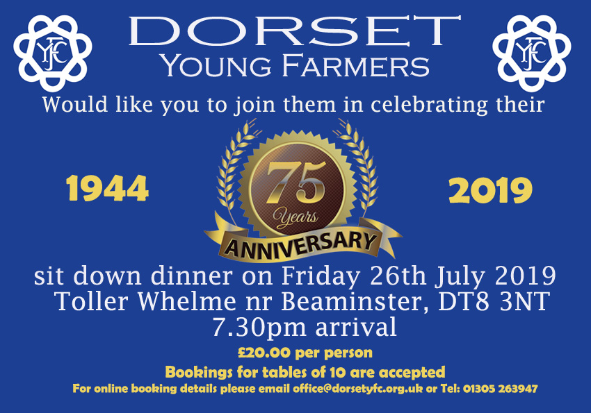 Dorset Young Farmers 75th Anniversary Dinner