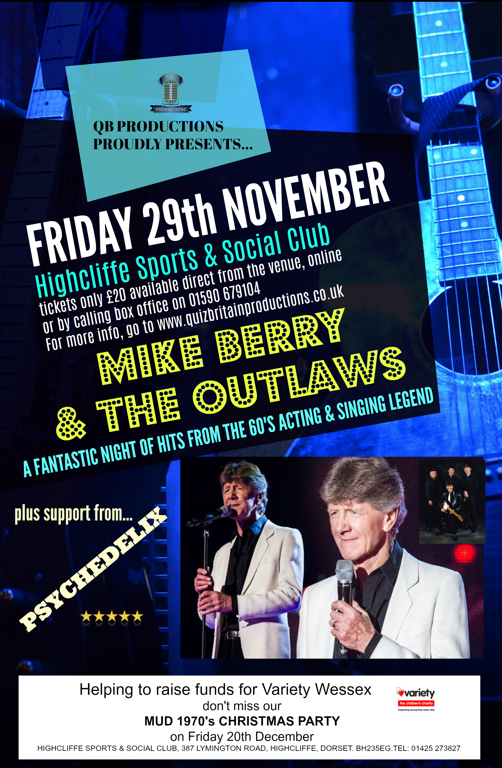Retro 1960's night with Mike Berry & the Outlaws