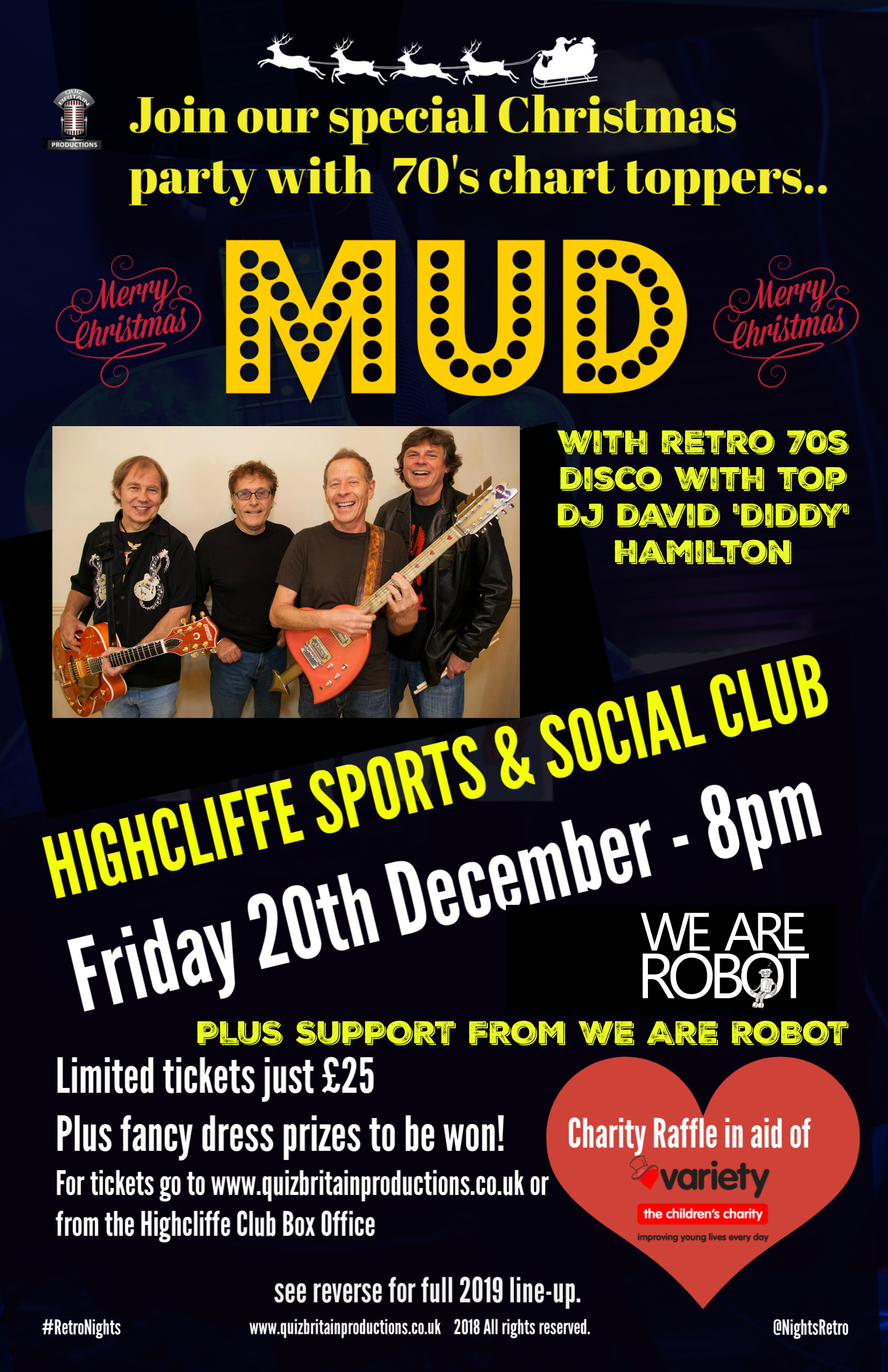 Christmas Retro night with Mud (supported by We Are Robot)