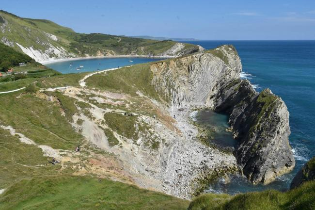 Stair Hole and Lulworth Cove on Dorset's Jurassic Coast  Picture: GRAHAM HUNT