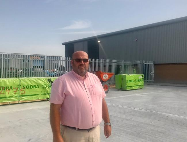 Neil Stroud, director of the new Weymouth branch of MKM Buidling Supplies