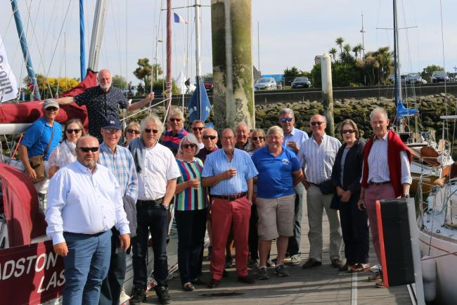 Castle Cove Sailing Club members on their five-day trip to Cherbourg                                                     Picture: NEIL STROUD
