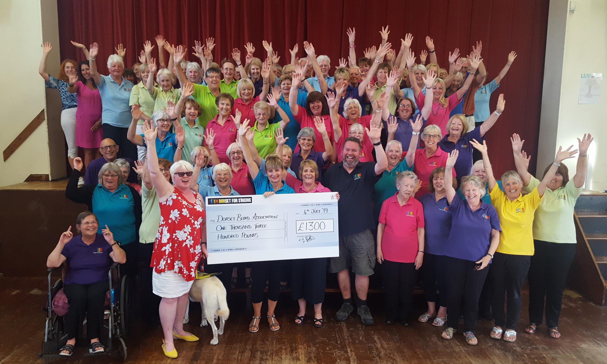 Dorset For Singing raises money for blindness charity