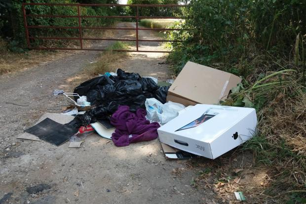 Whitcombe flytipping Picture: Dorset Council