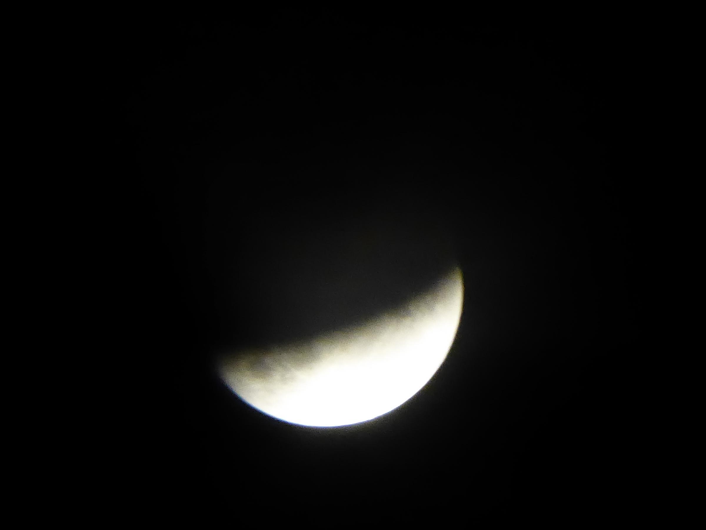 Pictures: Partial lunar eclipse over Dorset