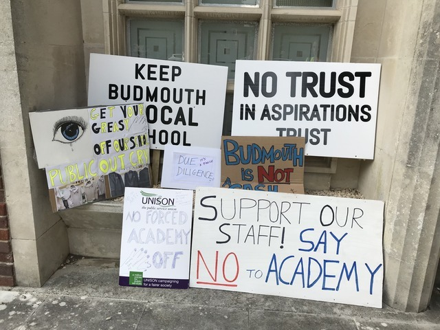 Bid to sack Budmouth College's interim board over academy move is defeated