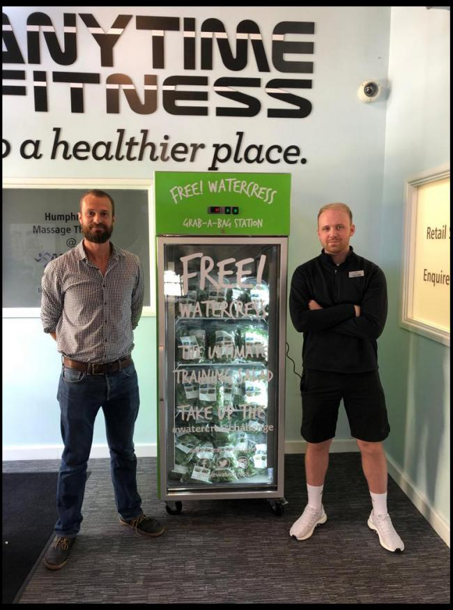 Dorchester gym offers free bags of post-workout watercress   Dorset Echo