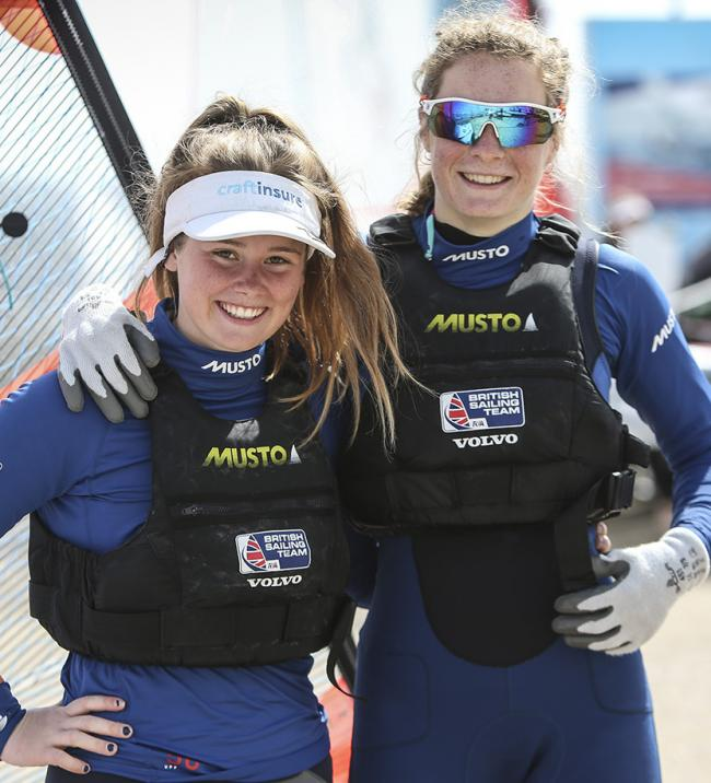 Freya Black and Poole's Millie Aldridge took fifth place                               Picture: PAUL WYETH/RYA