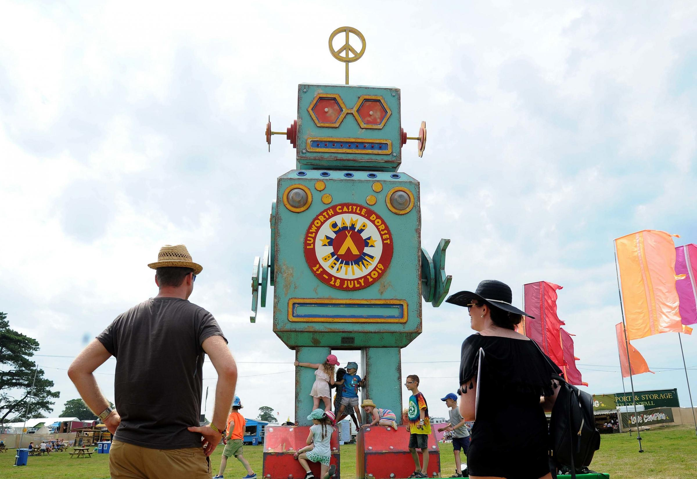 People arrive at Camp Bestival, Love Robot, 25/07/19, Picture: FINNBARR WEBSTER/F30371.