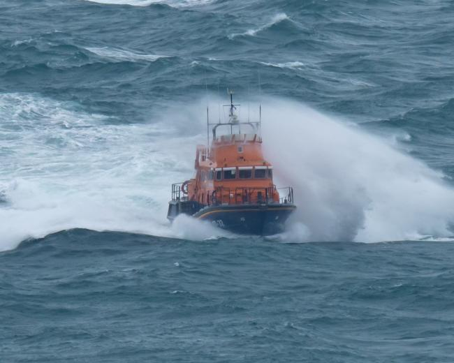 Weymouth lifeboat was launched