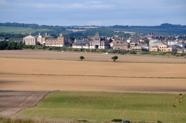 Dorset Magic - View from Maiden Castle across the fields to Poundbury - 020913, Picture GRAHAM HUNT HG11158.