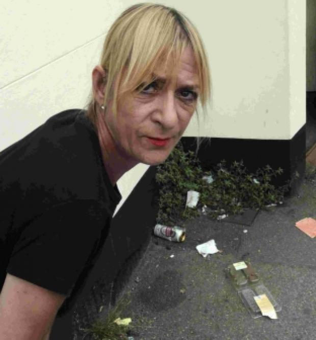 Dorset Echo: Kristina McElhinney with some of the rubbish