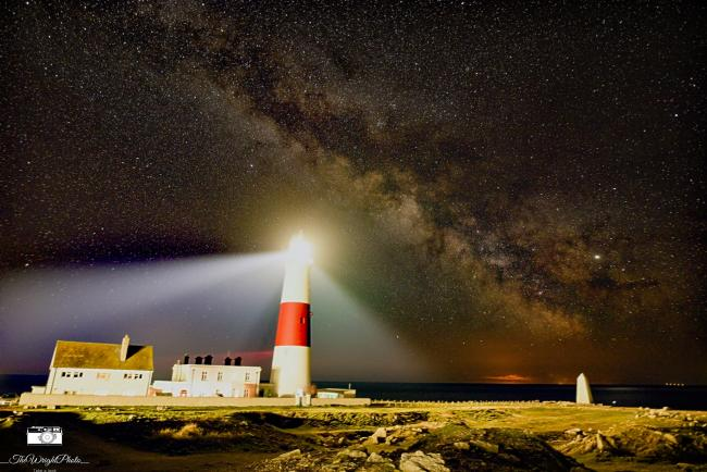 Echo Camera Club Dorset pictures. ..Night light, Portland Bill by Sam Wright ..Must credit the photographer..