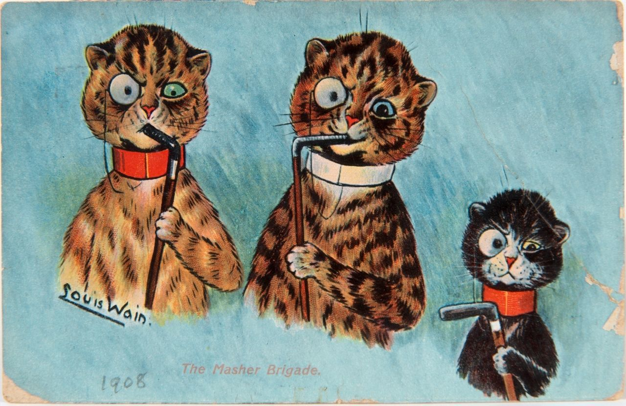 Cat postcards by artist Louis Wain to be sold at auction