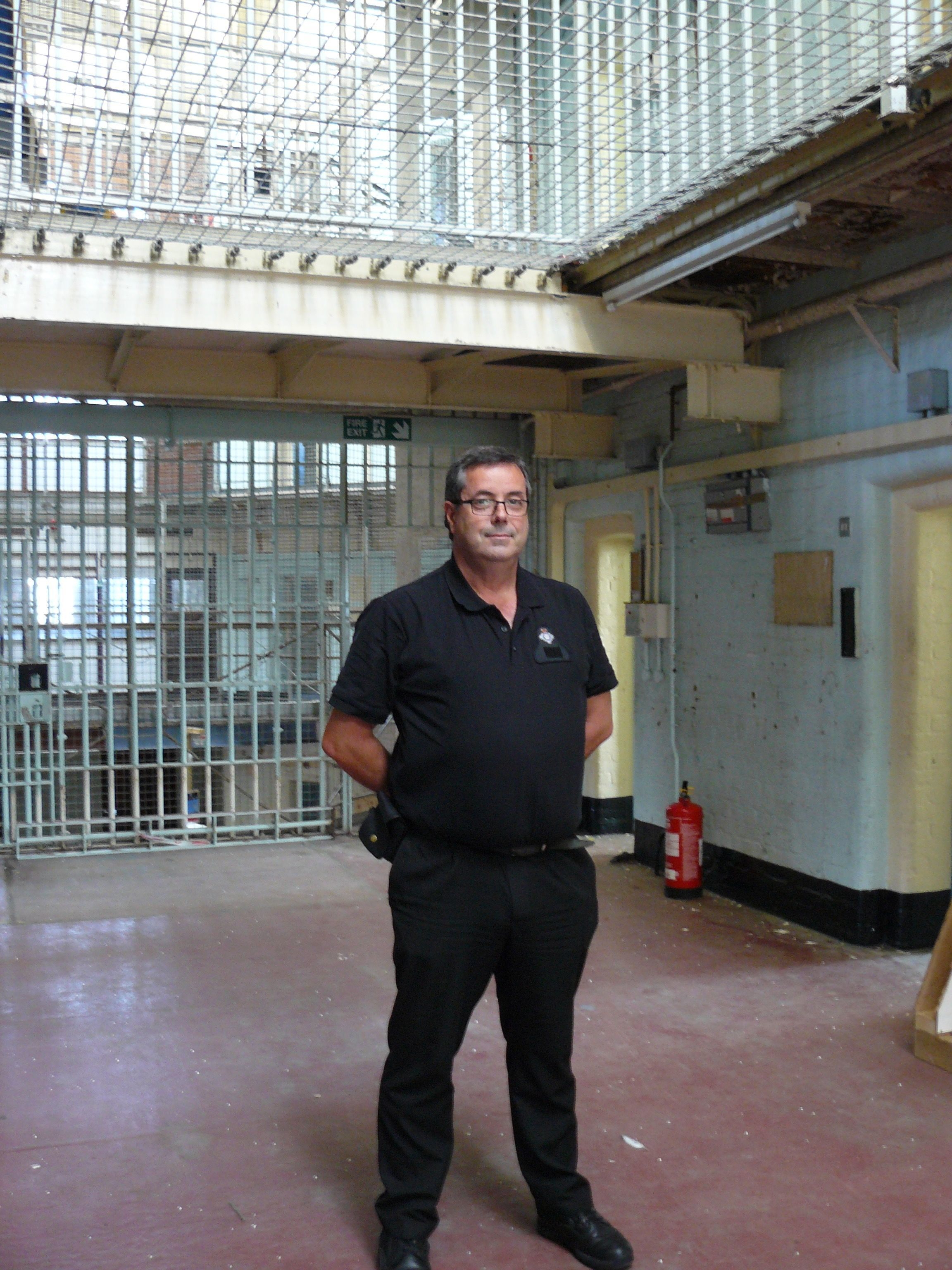 Dorchester Prison tour and hokey cokey in street for Heritage Open Days