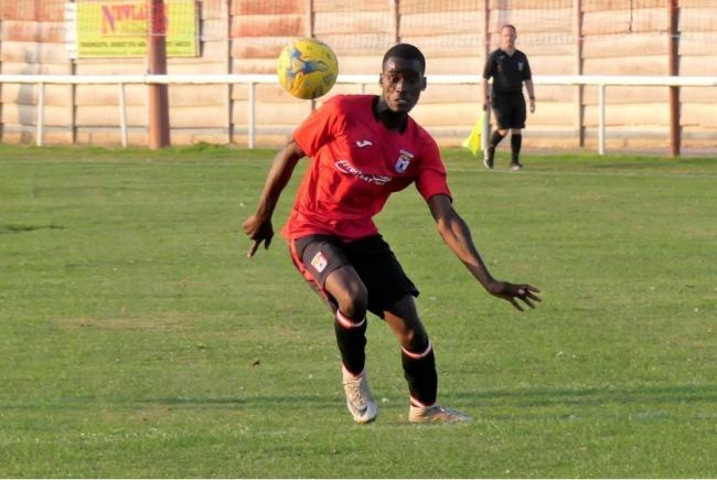 Bridport striker Robinson Okumu will miss out after returning to university      Picture: STEPHEN BARRETT