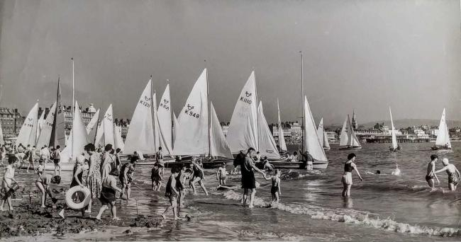 n Weymouth Beach - sailing boats set for a race Picture: Harry Green