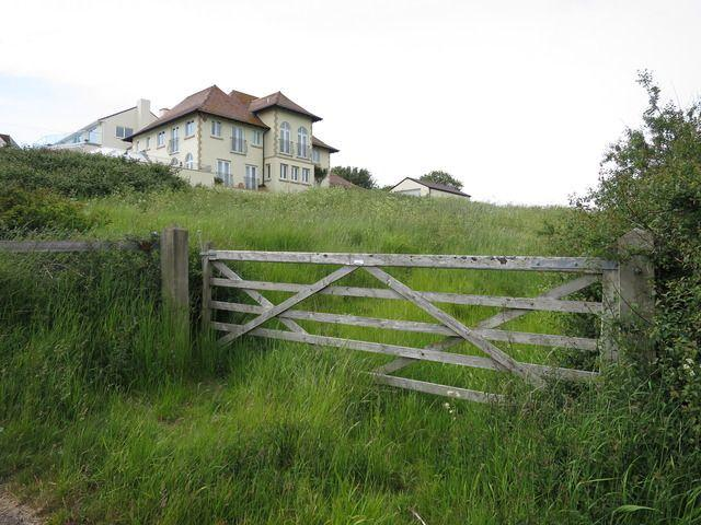 The application site is the field through the wooden gate off Bowleaze Coveway   Picture: Trevor Bevins