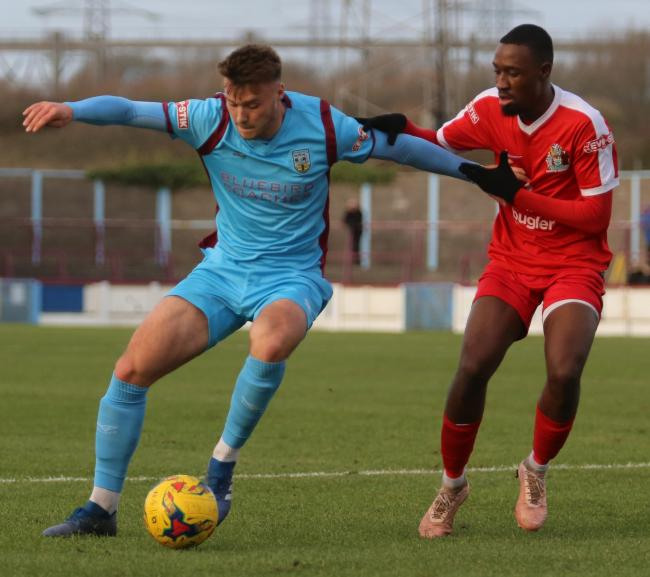 Weymouth centre-back Sam Sherring, left, remains out 	            Picture: MARK PROBIN