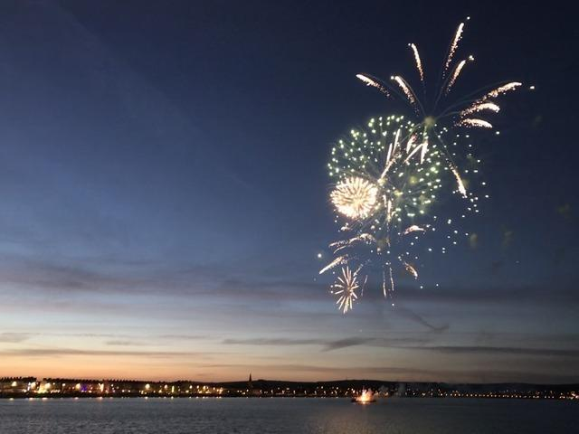 Fireworks in Weymouth Bay Picture: Trevor Bevins