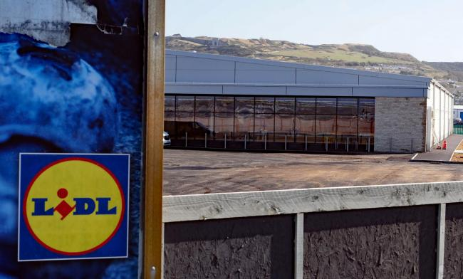 The new Lidl store on Portland. Pic by:Geoff Moore/Dorset Media Service