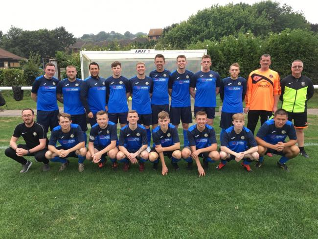 Balti Sports Reserves show off their new kit, sponsored by Csorba Utilities and Groundworks              Picture: BSFC