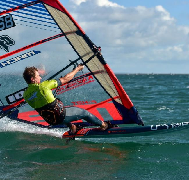 Weymouth's Scotty Stallman hit 34.43 knots                                                Picture: ANDY STALLMAN
