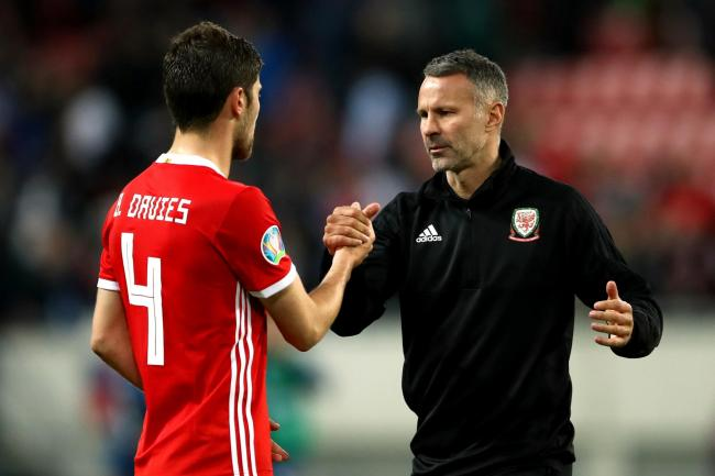 Wales manager Ryan Giggs, right, was pleased with his side's performance in their 1-1 Euro 2020 qualifying draw against Slovakia