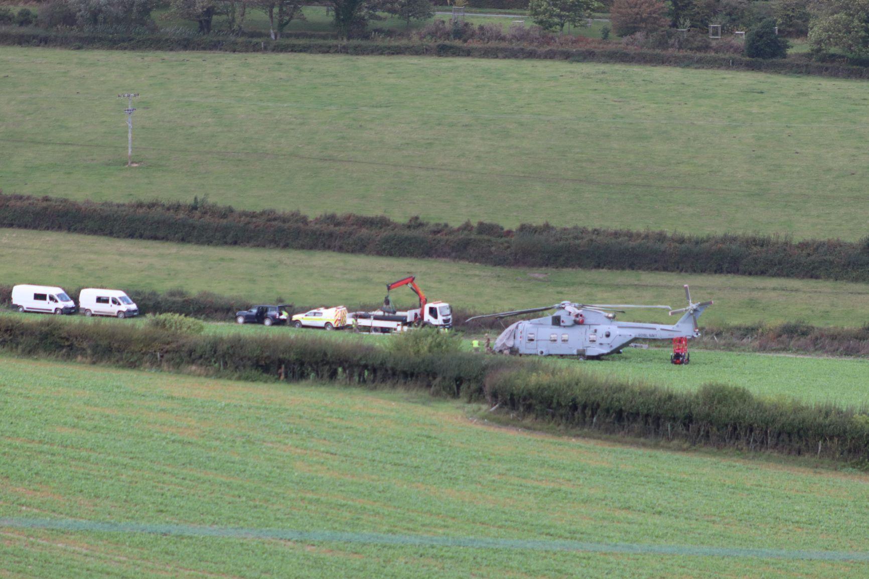'£25m' Merlin was stranded in field for a week