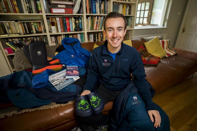 Kit Adams, who is swapping life in Co Down for a role as a postman in Antarctica