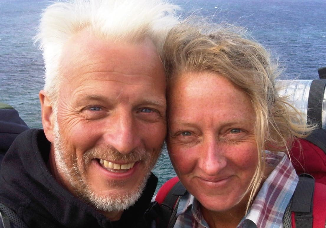 'We were made homeless and my husband was diagnosed with a terminal illness - so we walked the South West Coast Path'