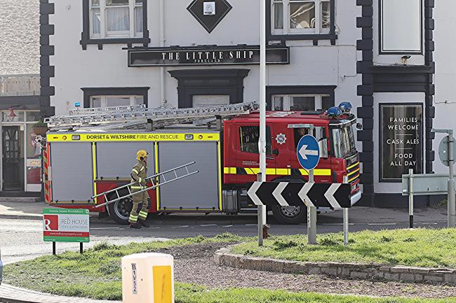 Firefighters were called to the Little Ship pub    Picture: Ken Deadman