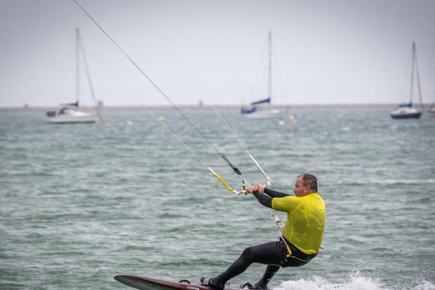 James Longmuir broke the record with 41.21 knots                    Picture: PETE DAVIS