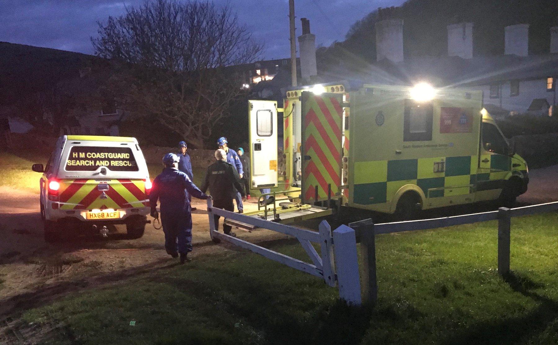 Lulworth and Kimmeridge coastguard teams help rescue woman