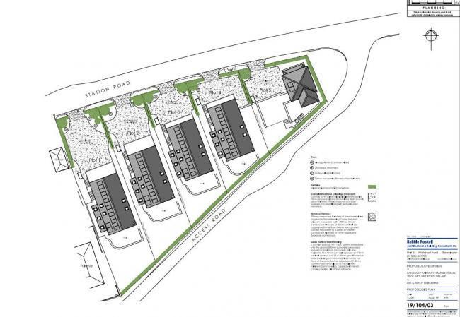 n Proposed site plan by architectural consultant Robbie Roskell