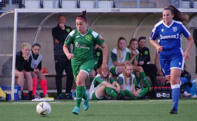 Meesha Dudley-Jones, left, scored what proved to be Yeovil's winner 			        Picture: YTWFC