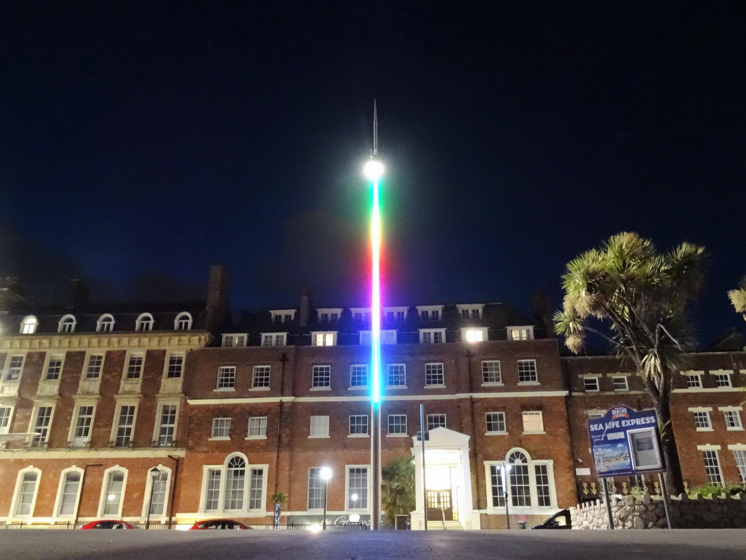 New Weymouth seafront lights spark debate - Dorset Echo