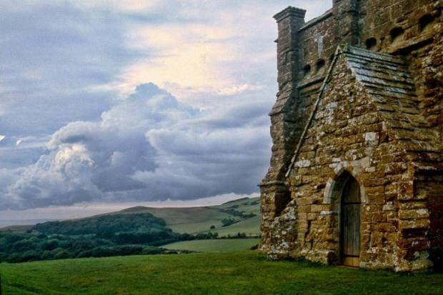 The chapel sits atop a hill near Abbotsbury
