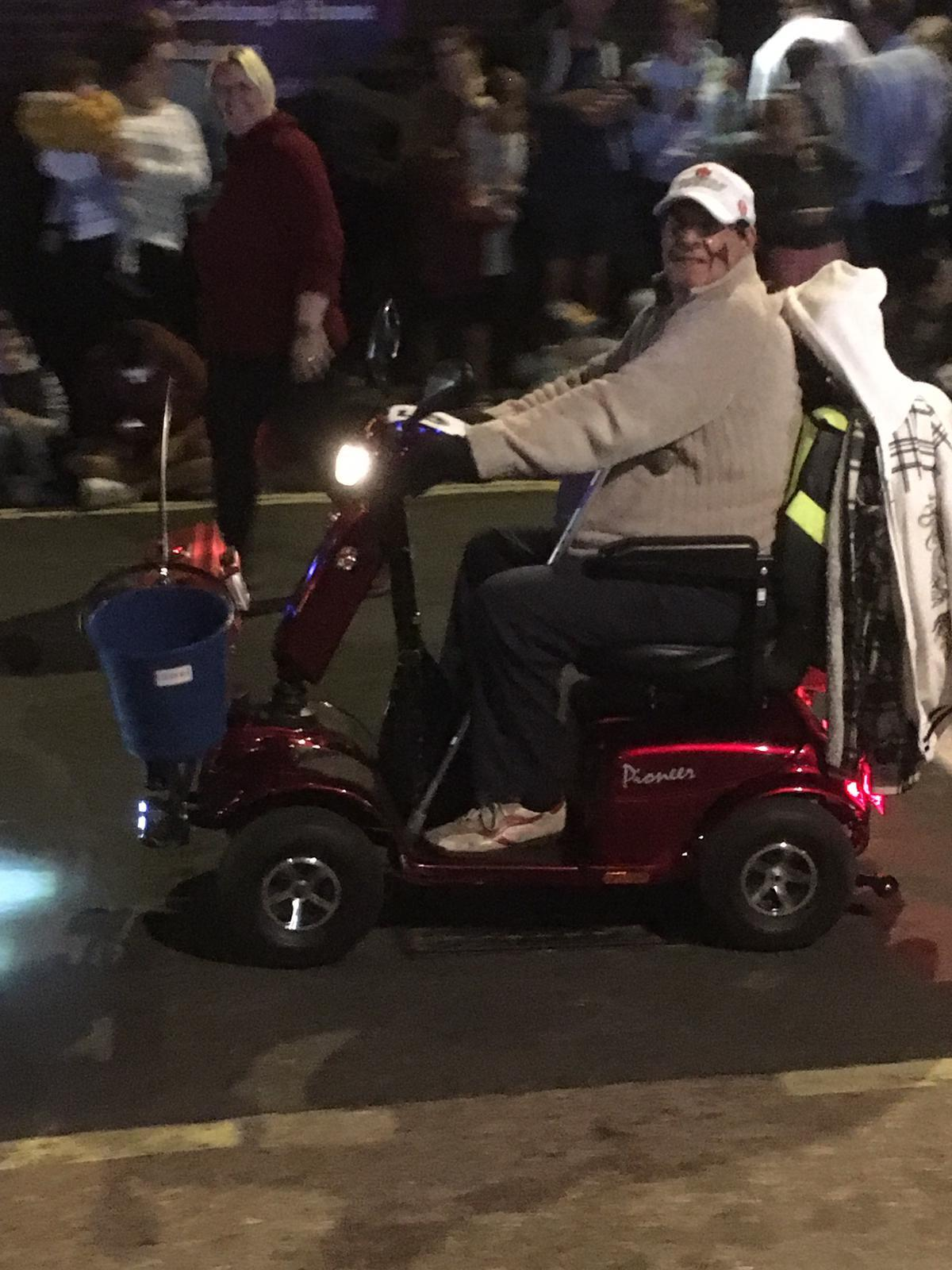 Terminally ill man 'pimps up' scooter with the latest gadgets