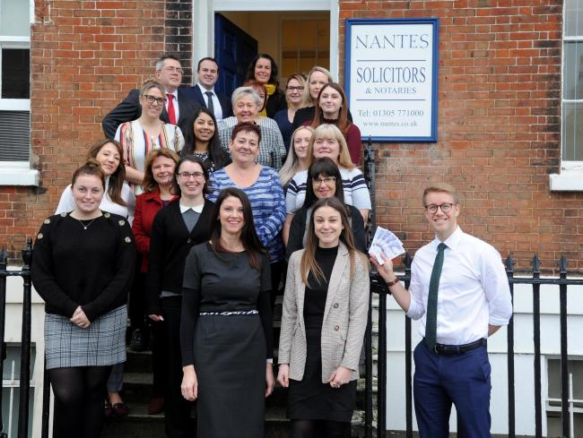 Dorset Echo Christmas Appeal, Nantes Solicitors, Weymouth, 26/11/19, Picture: FINNBARR WEBSTER/F30797