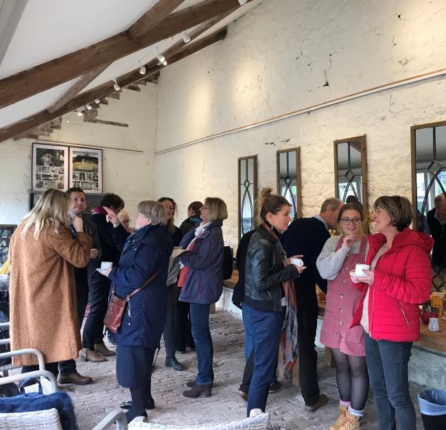 TIC staff members from across Dorset are welcomed to the Symondsbury Estate for a tour around the site