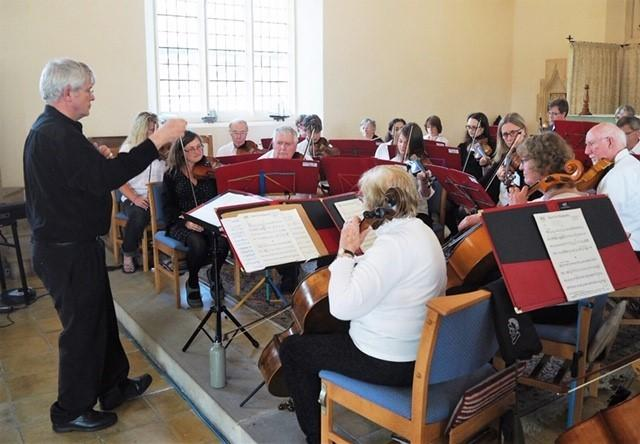 West Dorset Community Orchestra rehearse for their Christmas Concert