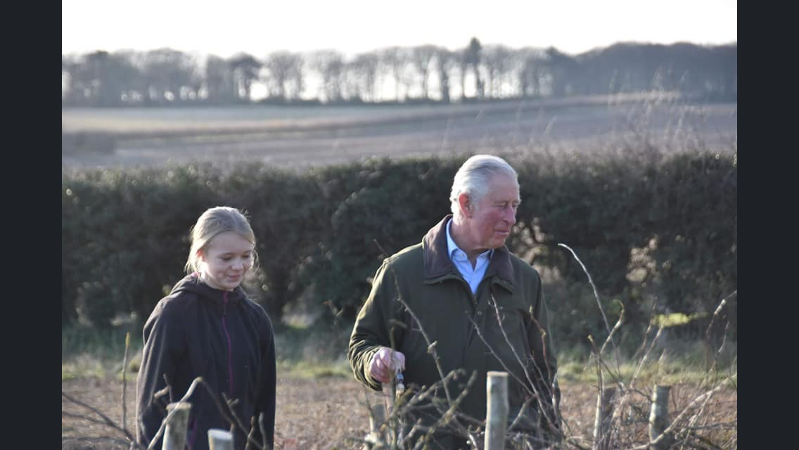 Portland schoolgirl impresses Prince Charles with hedgelaying skills at his estate