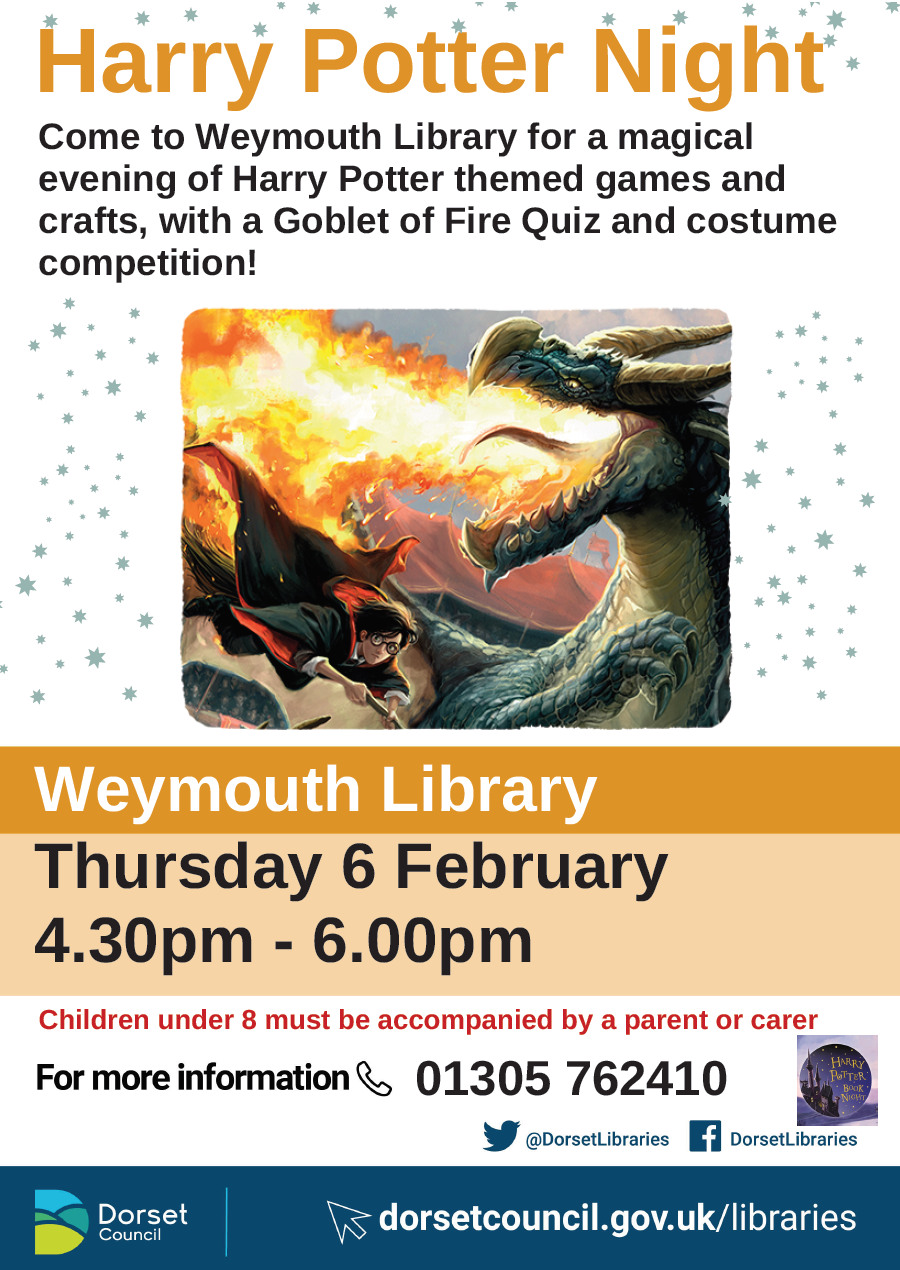 Weymouth Library Harry Potter Night