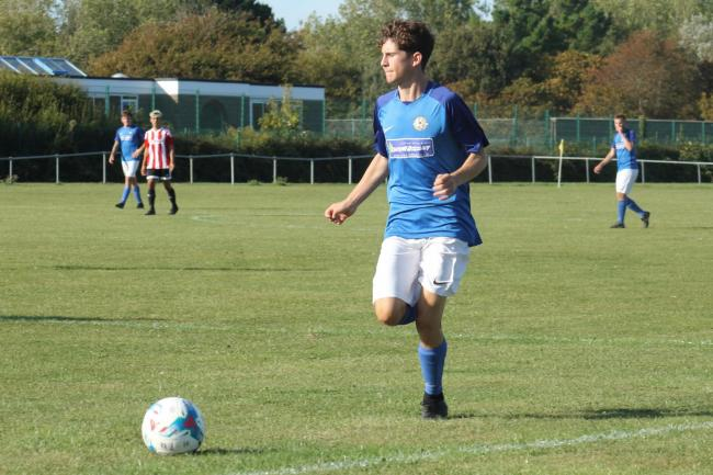 Stefanos Stavrianos grabbed Balti's second goal at Hamworthy Rec 		           Picture: STEVE HUNTER