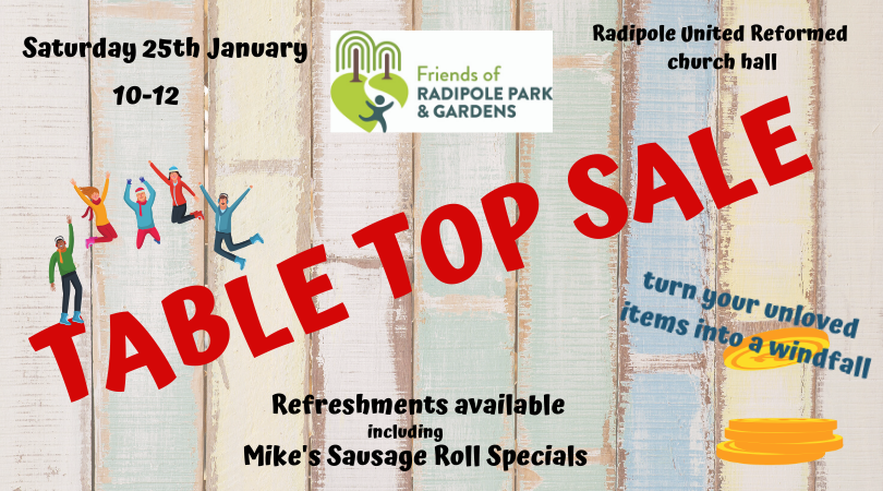 Friends of Radipole Park and Gardens Table Top Sale
