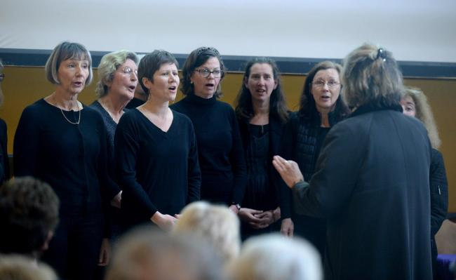 Holocaust Memorial event at Corn Exchange, Dorchester, Viva Choir perform, 24/01/20, PICTURE: FINNBARR WEBSTER/F30850