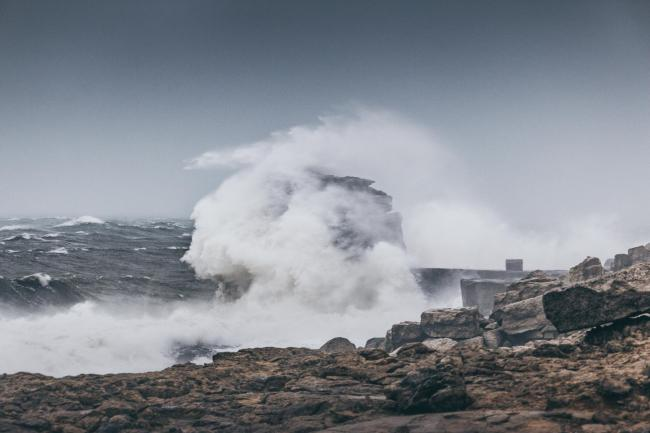 Large stormy waves on Portland during Storm Ciara        Picture: LUKE PANKHURST